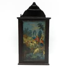 18th Century Polychrome Decor Painted Corner Cabinet
