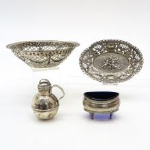 Lot of 4 Pieces of Silver