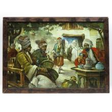South Holland Pottery Dutch Tile Tableau Titled Koffie
