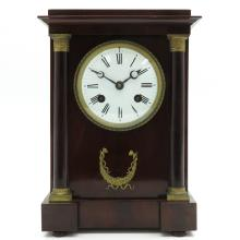 19th Century French Table Clock Signed Le Mazurier