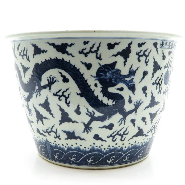 china porcelain blue and white decor fish bowl. Black Bedroom Furniture Sets. Home Design Ideas