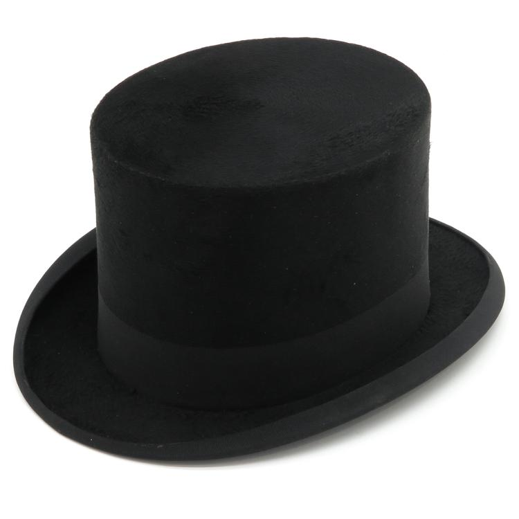 JOHN WRIGHT & SONS TOP HAT AND BOX