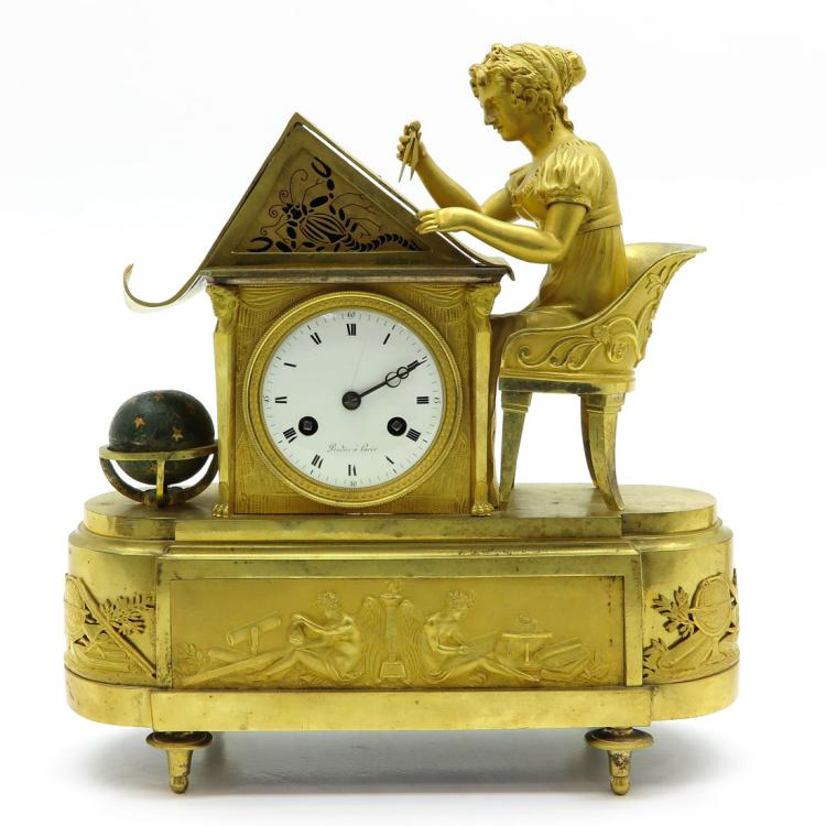 FRENCH EMPIRE PERIOD PENDULE SIGNED RODIER A PARIS