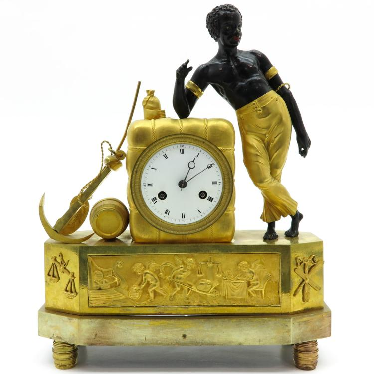 FRENCH EMPIRE PERIOD PENDULE TITLED THE SAILOR