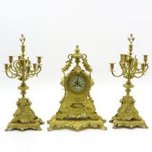 19TH CENTURY 3 PIECE CLOCK SET
