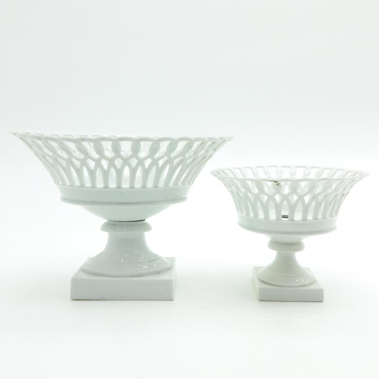 LOT OF 2 SEVRES 19TH CENTURY COUPES