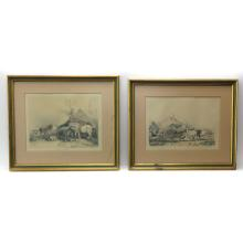 LOT OF 2 THOMAS COOPER LITHOGRAPHS
