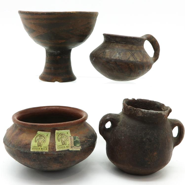 DIVERSE LOT OF POTTERY VESSELS