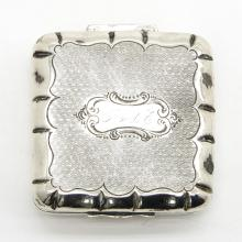 19TH CENTURY SILVER PEPPERMINT BOX