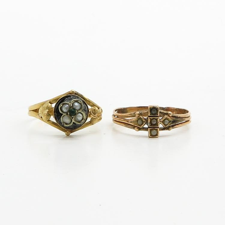 LOT OF 2 ANTIQUE RINGS