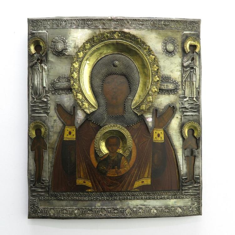 LATE 18TH/EARLY 19TH CENTURY OUR LADY OF THE SIGN ICON
