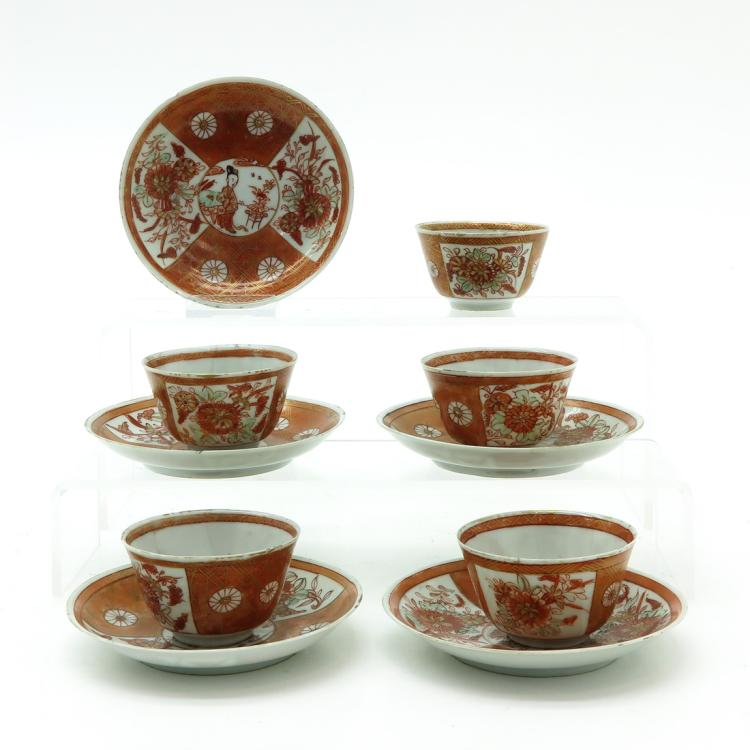 LOT OF 5 CUPS AND SAUCERS