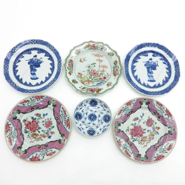 DIVERSE LOT OF 6 PLATES