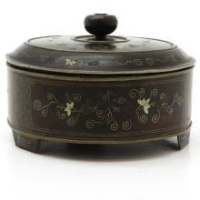 Asian Copper and Silver Box