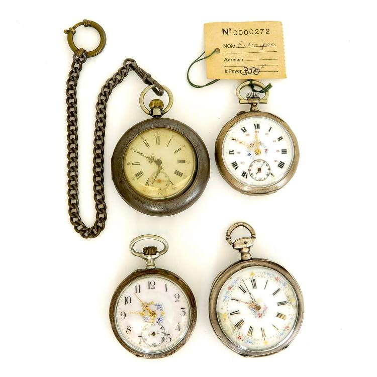 lot of 4 mens vintage pocket watches