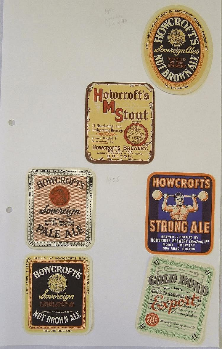 BEER LABELS, Howcrofts Brewery (Bolton), Nut