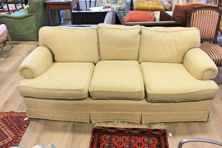 seater beige Chenille sofa by Sedia, feather down back cushions, Beige ...