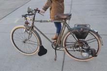 Vintage French moped bike, original untouched condition