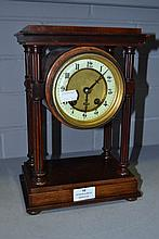 Antique bracket clock, with column supports, no