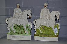 Two Lord Kitchener Staffordshire flat back