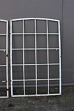 Antique French industrial iron windows, approx