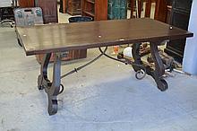 Spanish style table 76cm H x 180cm L x 90cm D