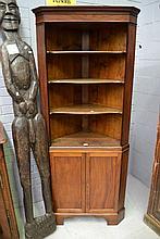 Corner cabinet, approx 198cm H x 84cm L