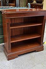 Open bookcase, approx 97cm H x 89cm L x 34cm D