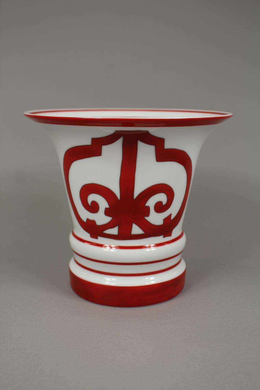 Hermes Balcons du Guadalquivir porcelain vase, approx 17cm H x 19cm dia