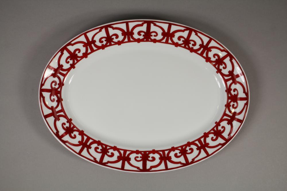 Hermes Balcons du Guadalquivir porcelain oval platter, approx 42cm x 30cm