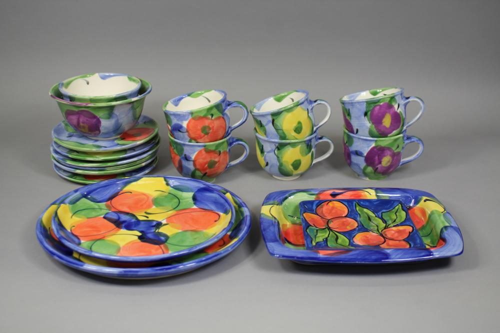 Cooks NZ and similar pottery plates, cups, bowls, etc