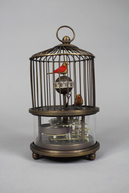 Decorative bird cage clock, approx 17cm H