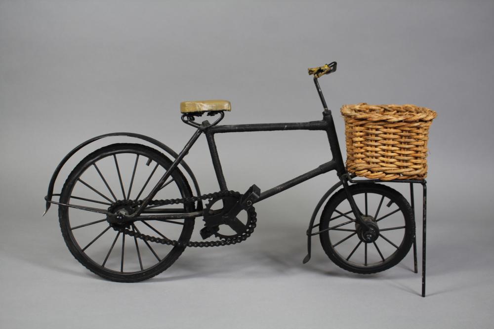 Decorative miniature of a bike, approx 26cm H x 44cm L