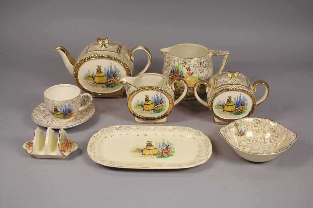 Part Sadler Crinoline Lady service along with Royal Winton and others