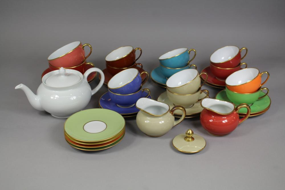 Assortment of Limoges to include cups, saucers, teapot, milk jugs