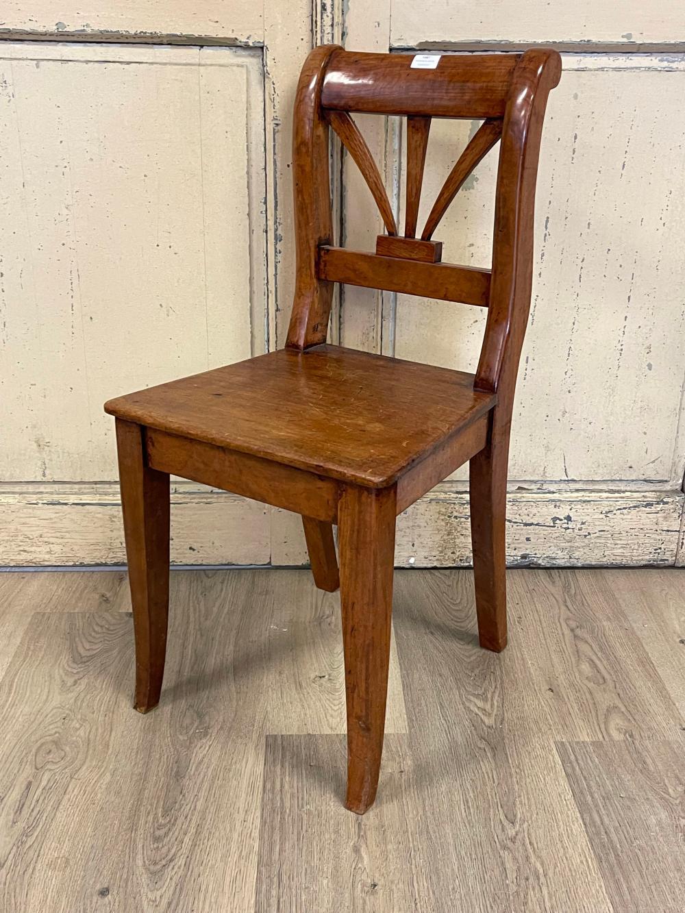 South Australian chair, showing Biedermeier design