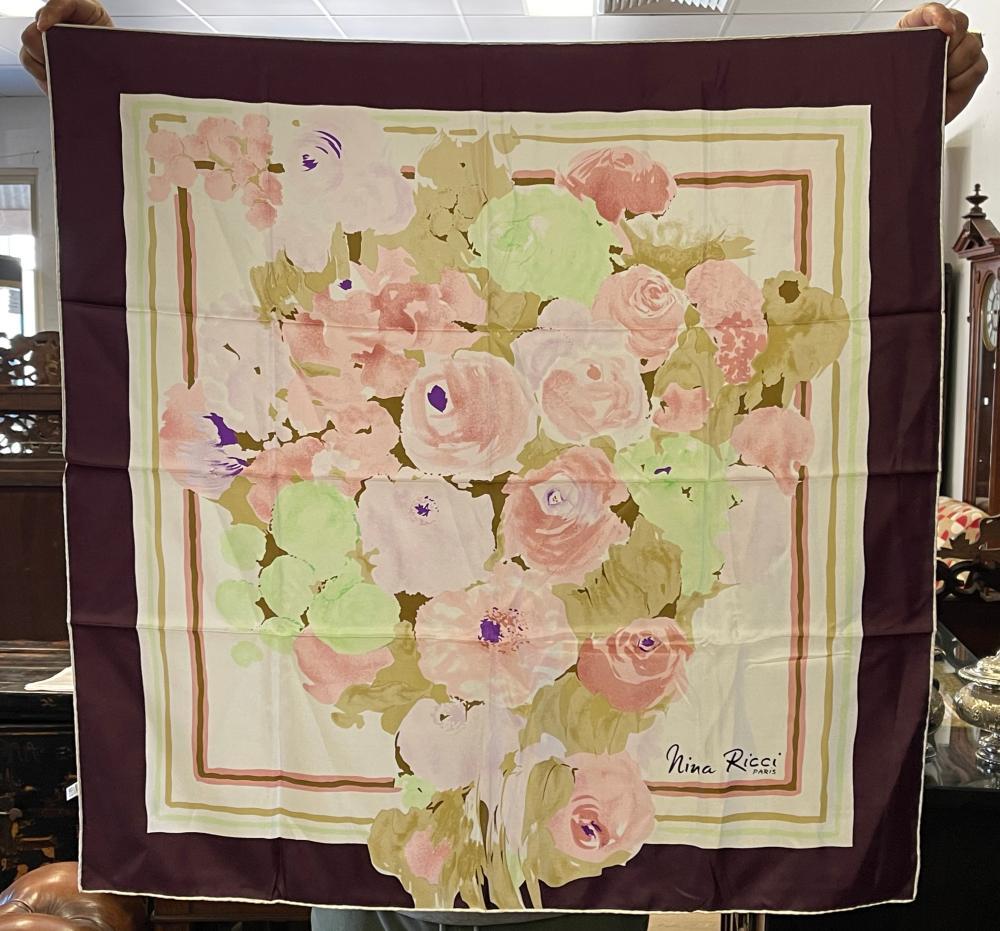 Nina Ricci Paris silk scarf
