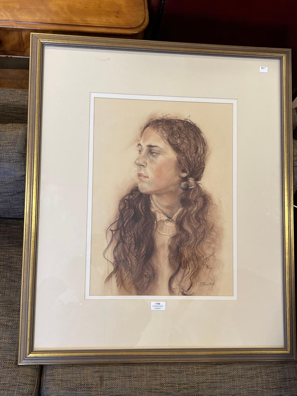 Tony Constantino, Not in the Mood, pastel, Greythorn Galliers , signed lower right, approx 52.5 x 38cm