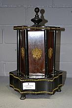 Antique French musical cigar box, gilt mounts and