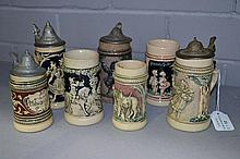 Seven Children's beer steins with fable