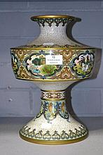 Republican period Chinese Cloisonne vase, approx