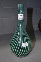 Italian signed art glass vase, approx 23cm H