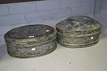 Two tin cases (2)