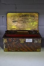 The Steamship Brand tin confectionary box with