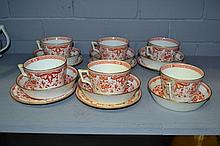 Minton red and white part tea set (17)
