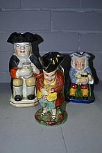Three Toby character jugs, one Copeland Spode,