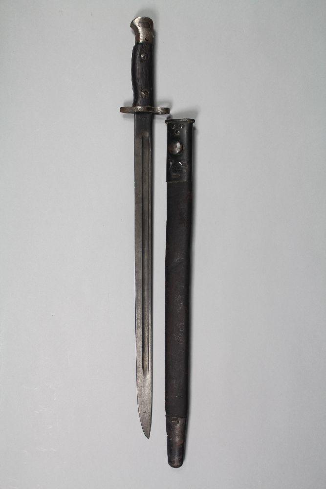 British / Australian Pattern 1907 bayonet and scabbard. 1917 dated.