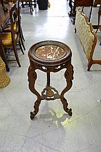Antique French Oriental design marble inset top