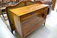 Antique 18th century Italian five drawer walnut