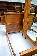 Vintage French walnut bed
